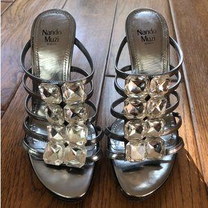 Nando Muzi Silver Heels- Made in Italy